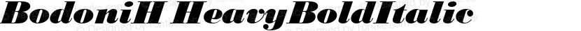 BodoniH HeavyBoldItalic Preview Image
