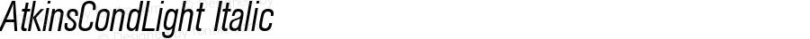 AtkinsCondLight Italic 1.0 Fri May 14 12:40:22 1999