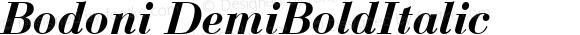 Bodoni DemiBoldItalic 1.0 Fri May 14 14:30:27 1999