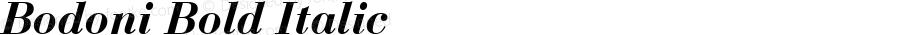 Bodoni Bold Italic Altsys Fontographer 3.5  5/3/92