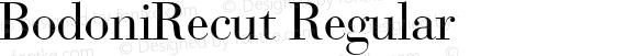 BodoniRecut Regular preview image