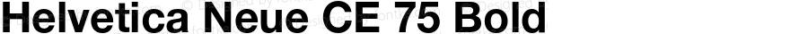 Helvetica Neue CE 75 Bold 001.000
