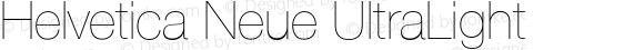 Helvetica Neue UltraLight