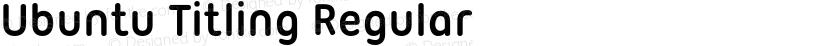 Ubuntu Titling Regular Preview Image