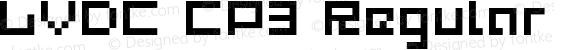 LVDC CP3 Regular Macromedia Fontographer 4.1J 07.5.26