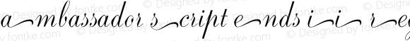 Ambassador Script Ends II Regular Version 1.000;PS 001.001;hotconv 1.0.38