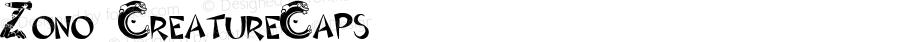 Zono CreatureCaps Macromedia Fontographer 4.1.4 11/6/00