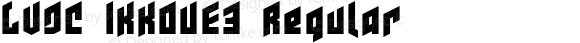 LVDC IKKOUE3 Regular Macromedia Fontographer 4.1J 07.8.16