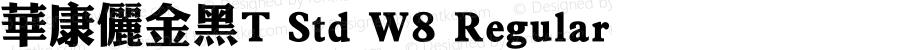 华康俪金黑T Std W8 Regular Version 1.20, Add_B_V