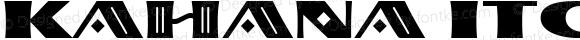 Kahana ITC Regular Version 1.00