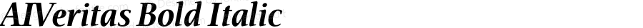 AIVeritas Bold Italic 001.000