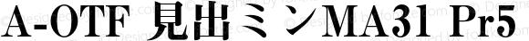 A-OTF 見出ミンMA31 Pr5 MA31 Bold Version 1.010;PS 1.1;Core 1.0.38;makeotf.lib1.6.6565