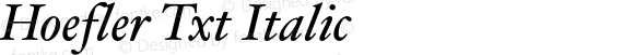 Hoefler Txt Italic