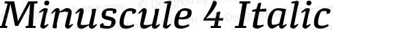 Minuscule 4 Italic