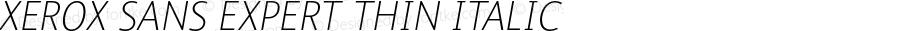 Xerox Sans Expert Thin Italic Version 1.000