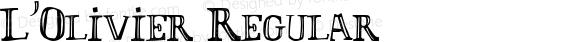 L'Olivier Regular Macromedia Fontographer 4.1.4 19/10/98