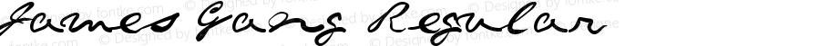 James Gang Regular Macromedia Fontographer 4.1.3 2/25/98