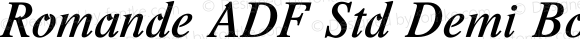 Romande ADF Std Demi Bold Italic