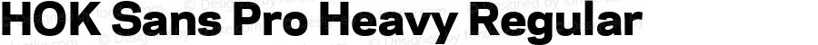 HOK Sans Pro Heavy Regular Version 1.000