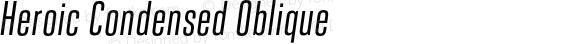 Heroic Condensed Oblique