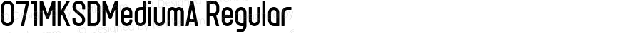 071MKSDMediumA Regular Macromedia Fontographer 4.1J 08.7.3