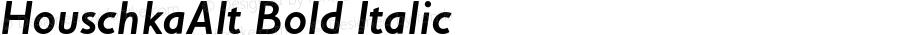 HouschkaAlt Bold Italic 001.000