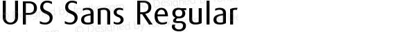 UPS Sans Regular Version 1.0 Extracted by ASV http://www.buraks.com/asv