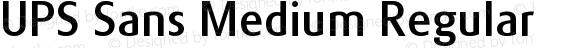 UPS Sans Medium Regular Version 1.0 Extracted by ASV http://www.buraks.com/asv