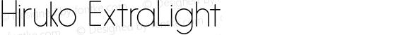 Hiruko ExtraLight