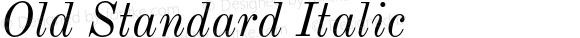 Old Standard Italic