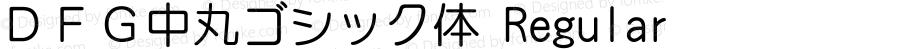 DFG中丸ゴシック体 Regular Version 3.100