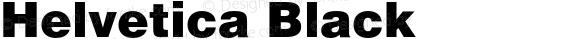 Helvetica Black
