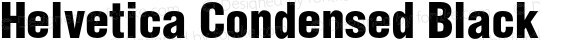 Helvetica Condensed Black