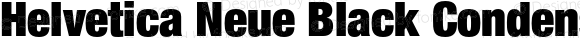 Helvetica Neue Black Condensed