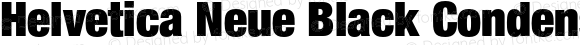 Helvetica Neue Black Condensed Oblique