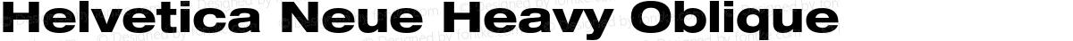 Helvetica Neue Heavy Oblique