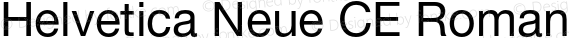 Helvetica Neue CE Roman 001.102