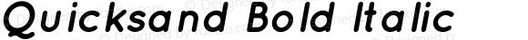 Quicksand Bold Italic
