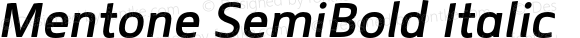 Mentone SemiBold Italic