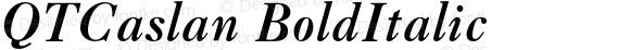 QTCaslan BoldItalic