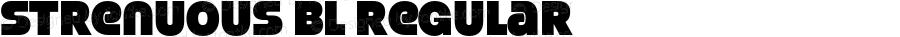 Strenuous Bl Regular OTF 4.000;PS 001.001;Core 1.0.29