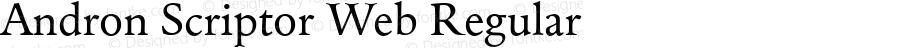 Andron Scriptor Web Regular Version 3.000