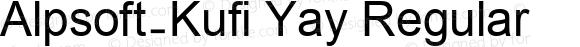 Alpsoft-Kufi Yay Regular Version 3.00 April 8, 2009