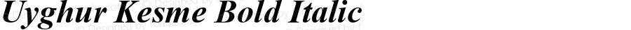 Uyghur Kesme Bold Italic Version 3.00 April 11, 2009