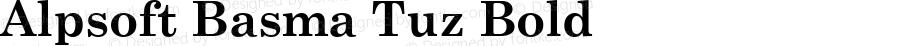 Alpsoft Basma Tuz Bold Version 3.00 April 3, 2009