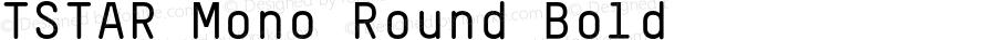 TSTAR Mono Round Bold 001.000