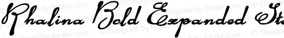 Rhalina Bold Expanded Italic Bold Expanded Italic