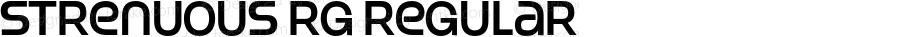 Strenuous Rg Regular OTF 4.000;PS 001.001;Core 1.0.29