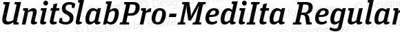 UnitSlabPro-MediIta Regular Version 7.504; 2009; Build 1003