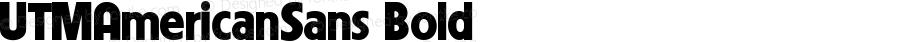 UTMAmericanSans Bold B? Font ch? Vi?t s? d?ng b?ng mã Unicode